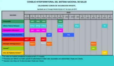 el ministerio de sanidad servicios sociales e igualdad y las cc aa acuerdan calendario de vacunacin infantil