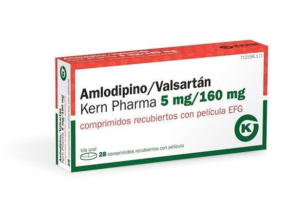 kern pharma dos nuevas presentaciones de amlodipino  valsartn para la hipertensin esencial