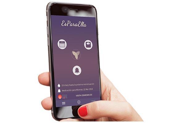esparaella la app de gedeon richter con la que la mujer controlar su regla y los sintomas de los miomas uterinos