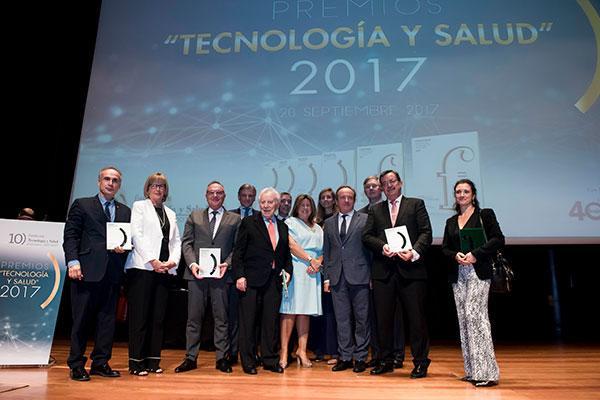 fenin y la fundacion tecnologia y salud entregan los premios tecnologia y salud 2017