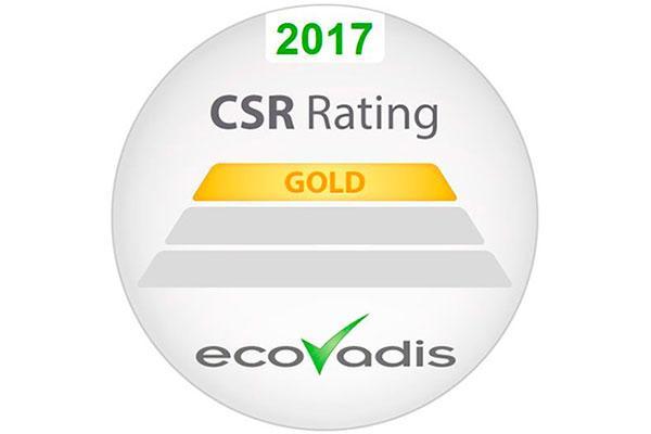 epson reconocida con el ecovadis gold en sostenibilidad