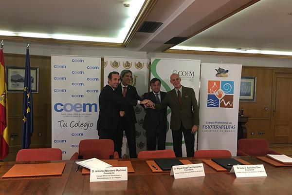 los mdicos de madrid firman una alianza con otras profesiones del sector