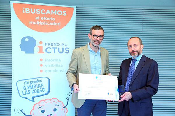 la asociacin freno al ictus premia a indra con el sello brain caring people empresa