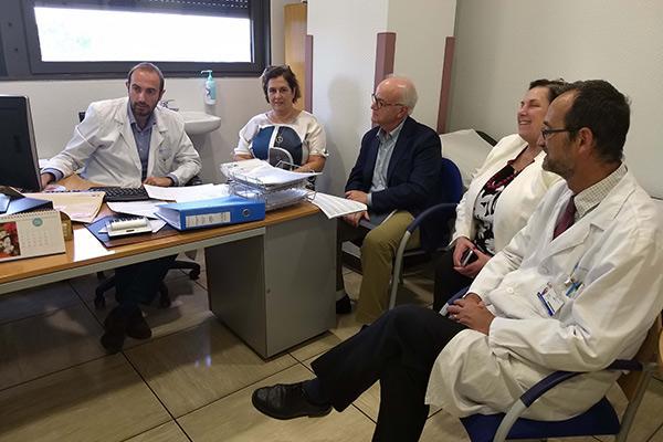 representantes de asco miden la calidad de la asistencia oncolgica del hospital la paz