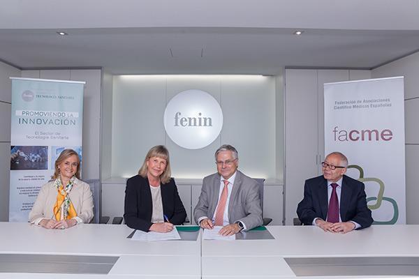 fenin y facme se unen para impulsar proyectos que mejoren la sostenibilidad del sistema sanitario