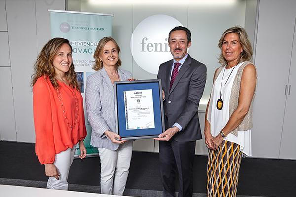fenin ya cuenta con el certificado del sistema de gestin de calidad de aenor