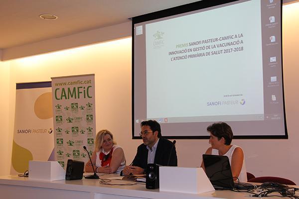 promover la vacunacion entre profesionales y poblacion objetivo de los premios camficsanofi pasteur