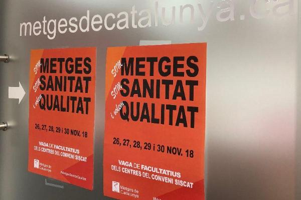 los mdicos de catalua paran para reclamar una sanidad de calidad