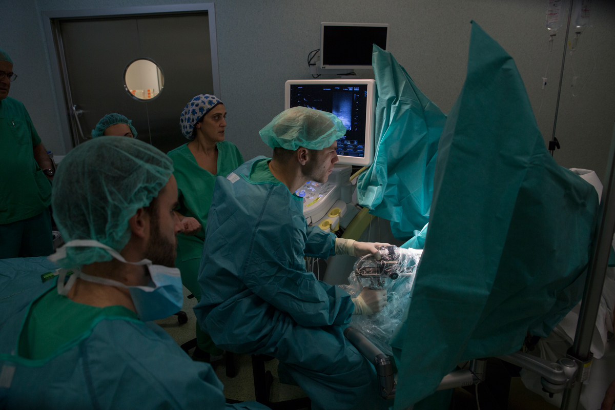 biopsia con aguja de próstata guiada por ultrasonido