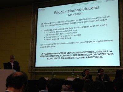 la telemedicina reduce en un 50 el impacto economico respecto a las visitas presenciales en pacientes con diabetes tipo 1