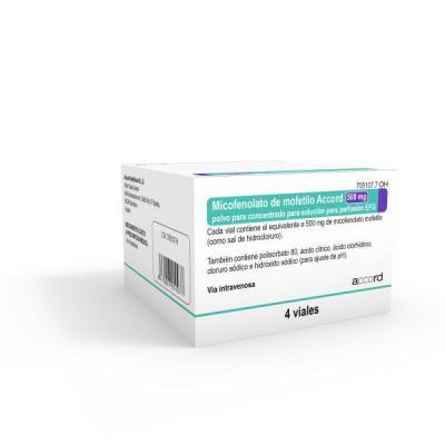 accord healthcare lanza al mercado espantildeol el primer geneacuterico de micofenolato de mofetilo 500mg20ml
