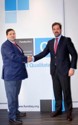 acuerdo de colaboracioacuten entre fundacioacuten ad qualitatem y la alianza de la sanidad privada espantildeola