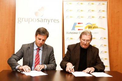 acuerdo de colaboracion entre sanyres y la fundacion alzheimer espana
