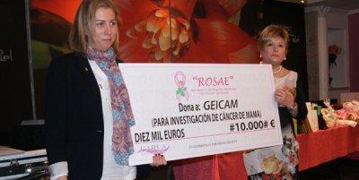 la asociacin rosae hace un donativo a geicam para apoyar la investigacin en cncer de mama gestacional