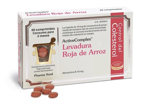 controla tu colesterol de forma natural con activecomplex levadura roja de arroz de pharma nord