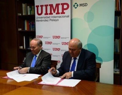 convenio de la uimp y msd para la creacion de una catedra de salud crecimiento y sostenibilidad