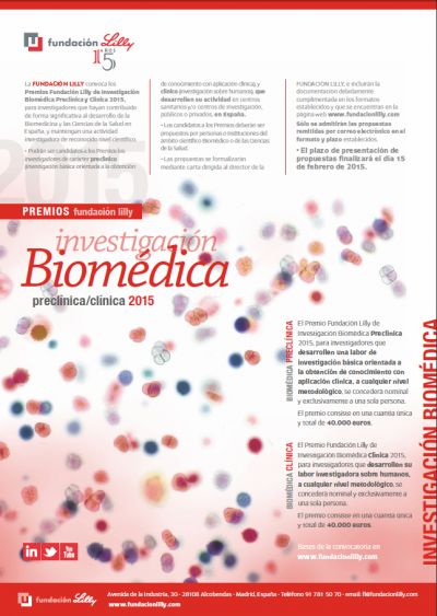 la fundacin lilly convoca los premios de investigacin biomdica 2015