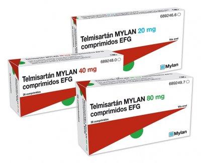 Telmisartán Mylan EFG para la hipertensión arterial