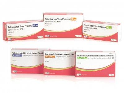 teva lanza seis nuevos formatos de telmisartn tratamiento de la hipertensin arterial